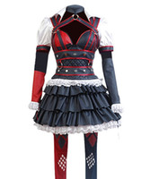 ingrosso costumi maschii supereroi-Costume cosplay femminile Harley Quinn Halloween Dress