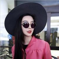 Wholesale Gimmax Fashion - Wholesale-GIMMAX RETRO SUNGLASSES female celebrity fashion sunglasses men's big box personality round sunglasses