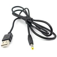 dc cabo de alimentação 2.5mm venda por atacado-USB para dc cabo de carregamento do carregador 2.0mm 2.5mm 3.5mm 5.5mm cabo de alimentação para telefone celular led light speaker router
