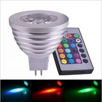 lâmpadas led mr16 24v venda por atacado-Chegada NOVA RGB Lâmpada CONDUZIDA MR16 4 W 8-24 V Tempo de Vida Útil LED RGB Lâmpada Spot Light com Retome IR 16 Mudança de Cor Bonita