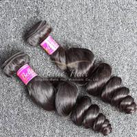 melhores extensões de cabelo humano ondulado venda por atacado-Best Selling 10-24 polegada Ondulado Onda Solta Extensão Do Cabelo 4 pçs / lote Cor Natural Peruano Feixes de Cabelo Humano Frete Grátis