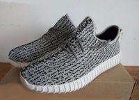 O mais popular Kanye West 350 Turtle Dove Moonrock Oxford Tan Pirate Black High Quility Cinzento Shoes Right Version Running shoes Lovers shoes
