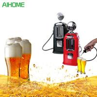 Wholesale metal machine gun - Double Guns Liquor Pump Gas Station Black Beer Dispenser Alcohol Liquid Soft Drink Beverage Dispenser Machine Bar Beer Tools