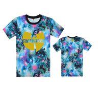 Wholesale Loose Galaxy Shirts Short Sleeve - Men's clothing Wu Tang T-Shirts street loose hiphop print short-sleeve t-shirt GALAXY high quality Free Shipping