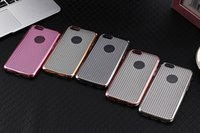 Wholesale Iphone5 Chrome - Chrome Bumper Diamond Pattern Glitter Soft TPU Gel Case For iphone 6 6s plus Cover Slim Electroplate 5 Color For Iphone5 5S