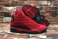 Wholesale Love Canvas - Wholesale Retro 13 XIII What Is Love 13s Sneakers Black Red Suede Mens Basketball Shoes Men Cheap Sneakers For Sale 888164-601 Super Quality