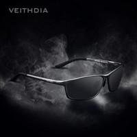 gafas de sol azul al por mayor-VEITHDIA Diseñador de la marca de aluminio de los hombres gafas de sol polarizadas gafas de sol gafas accesorios hombres espejo azul Gafas de sol gafas 6520
