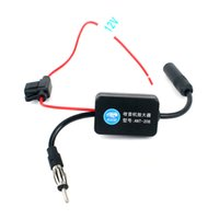 Wholesale Signal Amp - Car Antenna FM Signal Amplifier Car Amplifier Booster Radio FM(88-108MHz) New Amp Booster Automobile Antenna Car Accessories