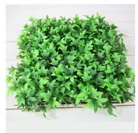 Wholesale Artificial Hedge Fence - Artificial Hedge Mat fake ivy fence 30cm*30cm Artificial Boxwood outdoors privacy for garden decoration free shipping