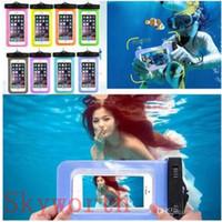 su geçirmez cep telefonu çantası toptan satış-Samsung galaxy s7 s6 için evrensel su geçirmez kılıf Iphone X 8 7 Artı Cep Telefonu Kuru Çanta su geçirmez telefon çanta