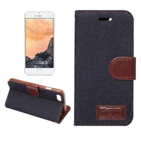 Wholesale Iphone Case Cowboys - For iPhone 7 6 Plus Cases Cowboy Cloth Pattern Leather Flip Wallet Credit Card Holder Stand Cover for Samsung Note 7 S7 S6 Edge Plus