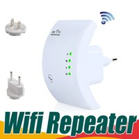 Wholesale Wifi Wireless Transmitter - Wireless N Wifi Router Repeater 300Mbps Booster Amplifier Transmitter 802.11N B G Signal Range Extender Networking Wifi Finders High Speed