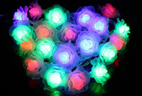 Love Rose LED String Lighting 10-20leds nightlight 9 Colores Valentine 'Day Flower Party Boda Christmas Fairy Decoration SW
