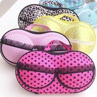 Wholesale Bra Hard - New Floral Polka Dot Bra Storage Bags Underwear Lingerie Admission Package Travel Portable Finishing Protect Case Bag Holder
