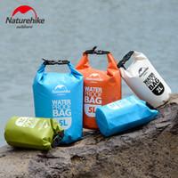 Wholesale dry bag 2l - Naturehike Outdoor PVC Waterproof Dry Sack Storage Bag Rafting Sports Kayaking Canoeing Swimming Bag Travel Kits 2L
