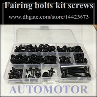 Wholesale Fairing bolts full screw kit For KAWASAKI NINJA ZX R ZX R ZX R ZX9R A112 Body Nut Nuts bolt screws