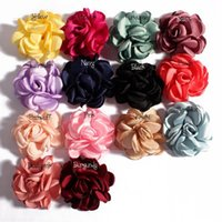 Wholesale Diy Lace Brooch - Rose Flowers Camellia With Fire-finished Edge Fit DIY Headband Hairclips Shoes Brooch Ornament Baby Girl Clothing Hair Accessories