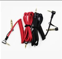 Wholesale Spring Hdmi - 6.5mm and 3.5mm Male to Male Red Spring Cable For Detox Pro Stereo Headphone Replacement Extension AUX Audio Cable