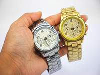 Wholesale Michael Glasses - Fashion michael men's watch,women watch,quartz watch with calendar, silver, gold, rosegold in stock