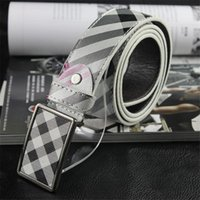 Belts black wait - Striped Genuine Leather Mens Belts Fashion Smooth Waits Belts with Alloy Metal Needle Buckle for Men belt