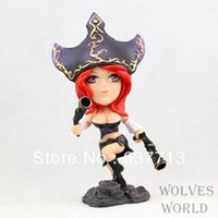 Wholesale Miss Fortune Action Figure - 1 pcs 16CM 6.3 inch Cute Miss Fortune Q Version PVC Action Figure Toy retail 1206#06