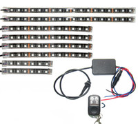 Controllo musicale 3 dimensioni Led Strip 18 colore RGB LED Corona Knight Rider Light Kit per la bici del motociclo