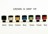 bobinas de atomização da coroa venda por atacado-Uwell Crown 3 Gotejamento Dica 510 Estilo Alumínio Resina Drip Tips Apto para Uwell Crown III Tanque Atomizador Bocal Da Bobina 7 cores