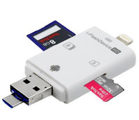 Wholesale Usb Cardreader - Wholesale High Speed Card Reader All in 1 USB 3.0 i-Flash Drive TF SD Memory USB sd cardReader for Phone 6 Plus ipad air 1 2 touch