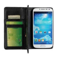 À propos de Skin Leather Pour Samsung Galaxy S4 S IV I9500 cas Flip Cover Wallet Stand avec 6 Card Holder Business Design téléphone