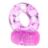 kelebek titreşimli penis halkası toptan satış-Kelebek Silikon Cock Ring Jöle Titreşimli Penis Halkası Gecikme Erken Boşalma Kilit Seks Oyuncakları Erkekler için