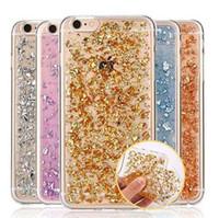 dhl 5s gold toptan satış-Ultra Ince Altın Folyo Bling Glitter Madeni Pul Pullu Temizle Yumuşak TPU Silikon Fundas Kapak Kılıf iphone 7 5 S SE 6 6 S Artı DHL