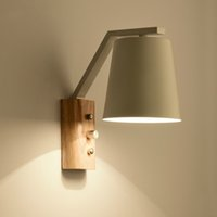 Wholesale Wood Bedside Lamps Bedroom - Nordic wood art wall lamps creative modern minimalist bedroom bedside balcony aisle real wood wall lamp Aisle Lamp commercial lighting