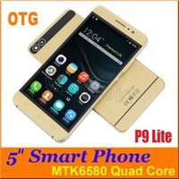 Wholesale Gestures Function - 5 inch Quad Core MTK6580 Android 5.1 Smart Phone Dual Sim cam Wifi 512M 4GB 960*540 gesture OTG Function 3G WCDMA unlocked Free shipping DHL