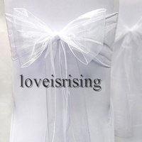 """Wholesale Organza Chair Bow Sashes - Hot item--50pcs pack 8"""" (20cm) Wx108"""" (275cm) L Chair Organza Sash Bow for Wedding Banquet Party Supply"""