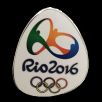 Wholesale Games Loads - 10 pcs lot The 2016 Rio Olympic games Championship replica collar badge collectible art 38 mm x 31.3 mm
