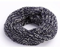 Wholesale Kids Infinity Scarves Wholesale - Wholesale Unisex Children Knitted Ring Scarves Neckerchief Baby Kids Boys Girls Infinity Circle Loop Scarf for Fall Winter WJ8384