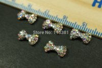 20pcs / lot dei monili 7x10mm Bling Strass Papillon Craft lega Fare Accessori gel UV acrilico punte decorazione di arte del chiodo del manicure