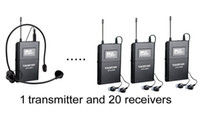 Wholesale wireless tour guide - New takstar WTG-500 Tour Guiding 20 person Tour Group Guide Church Assistive Listening System Package System 1 Transmitter and 20 Receivers