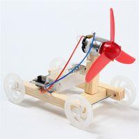 kits de montage de bricolage achat en gros de-Nouveau modèle de bricolage à une seule aile de voiture de vent modèle kit de développement jouets expérience scientifique jouets éducatifs cadeau pour enfants