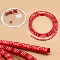 Wholesale Red Black Aluminum Alloy Shifting Cable Line Tube Transmission Wire Pipe Set For Mountain Road Bike Bicycle About g For Sale