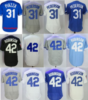 Wholesale Gold Bat - Throwback Men's Mike Piazza Mitchell & Ness Royal 42 Jackie Robinson Batting Practice Jersey