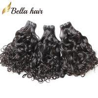 Wholesale Brazil Virgin - 7A Virgin Brazilian Hair Weave Brazilian Wave Remy Hair Extensions Natural Color Brazil Curl Human Hair Bella Hair