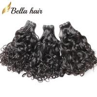 ingrosso tessuti brasiliani-Bella Hair 8A Virgin BrazilianHair Weave Brasiliano Wave Remy Hair Extensions Colore naturale Brasile Curl capelli umani