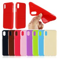 Wholesale iphone plus jelly gel case for sale - Candy Color Soft TPU Gel Rubber Silicone Jelly Solid Color Shell Case Cover For iPhone S SE S Plus iPhone8