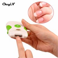 Wholesale Professional Used Clippers - Professional Green Clipper Electric Nail Trimmer Dual-use Nail Clipper Nail Cutter File Manicure Pedicure Set tools