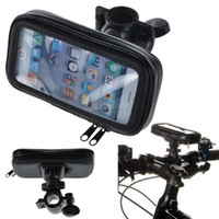 Livraison gratuite Universal Waterproof Motorcycle Bike Bicycle Handlebar Mount Holder Pouch Bag pour iPhone 5 SE 5S 5G 5C 4 4S
