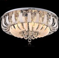 Wholesale Modern Ceiling Lamp Price - Factory Price!! Modern Round crystal chandeliers Minimalist ceiling lamp E14 led glass chandelier hang lights living room bedroom decoration