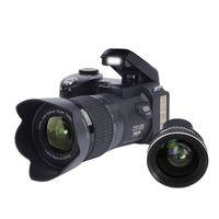 dijital kamera telefoto lensler toptan satış-D7100 33MP FHD DSLR Yarım Profesyonel Dijital Kameralar 24x Telefoto Geniş Açı Lens setleri 8X Dijital zoom Kameralar Odak