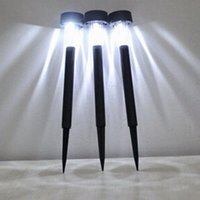 Wholesale Solar Lighted Garden Stakes - Wholesale-Brand New High Quality Solar LED Outdoor Lights Lawn Garden Landscape Path Stake Spot Lamp Free Shipping