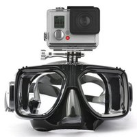Wholesale Gopro Silicon - Gopro Diving Mask Glasses Soft Liquid Silicon Scuba Diving Mask with Clear Tempered Glass Top Snorkelling Snorkel Mask 4 Color 2506013